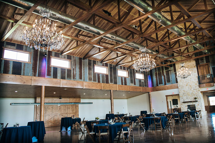 inside look of the Blaine Stone Lodge main event room