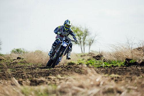 motocross rider at the TexPlex Park track