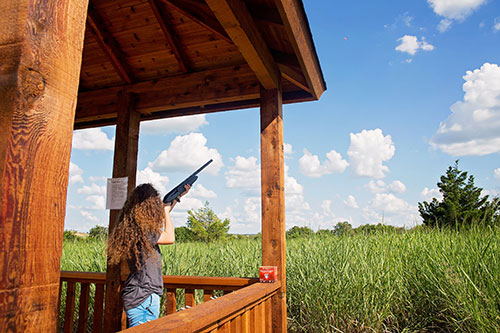 guest shooting sporting clays at TexPlex Park