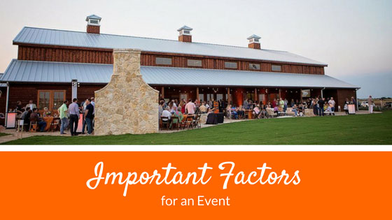 Important Factors for an Event